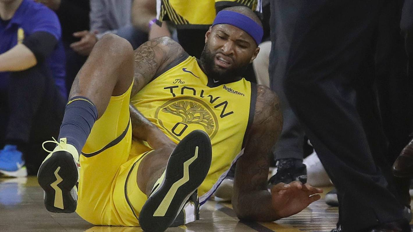 Warriors' alert runs off with DeMarcus Cousins injury scare