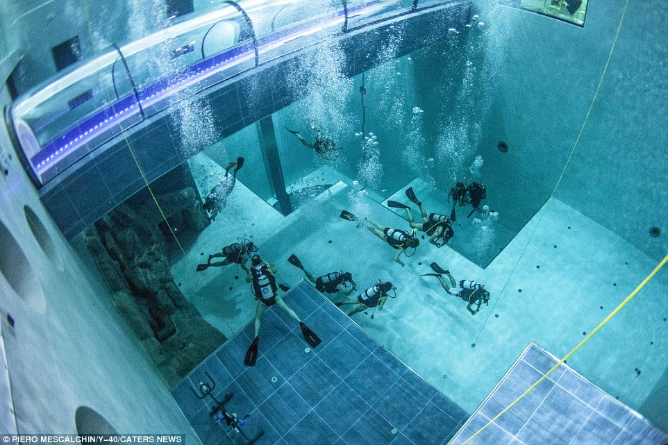 World's most profound indoor plunge pool will be as profound as 15-story building