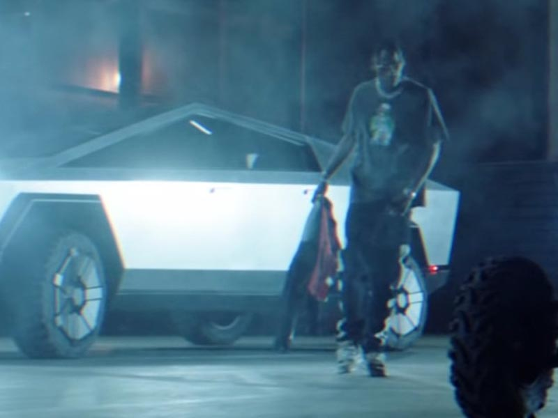 Tesla's Cybertruck discovered its approach into a Travis Scott music video