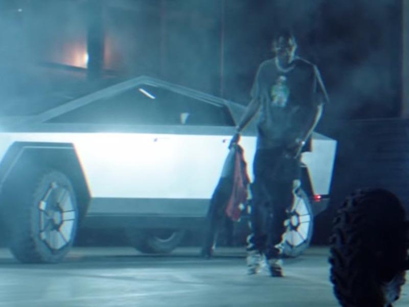 Tesla's Cybertruck discovered its approach into a Travis Scott music video