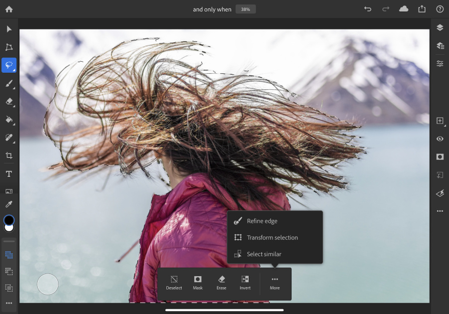 Photoshop gets another batch of desktop features for the iPad