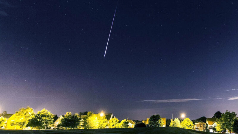 Next week you have two meteor shower coming into the sky