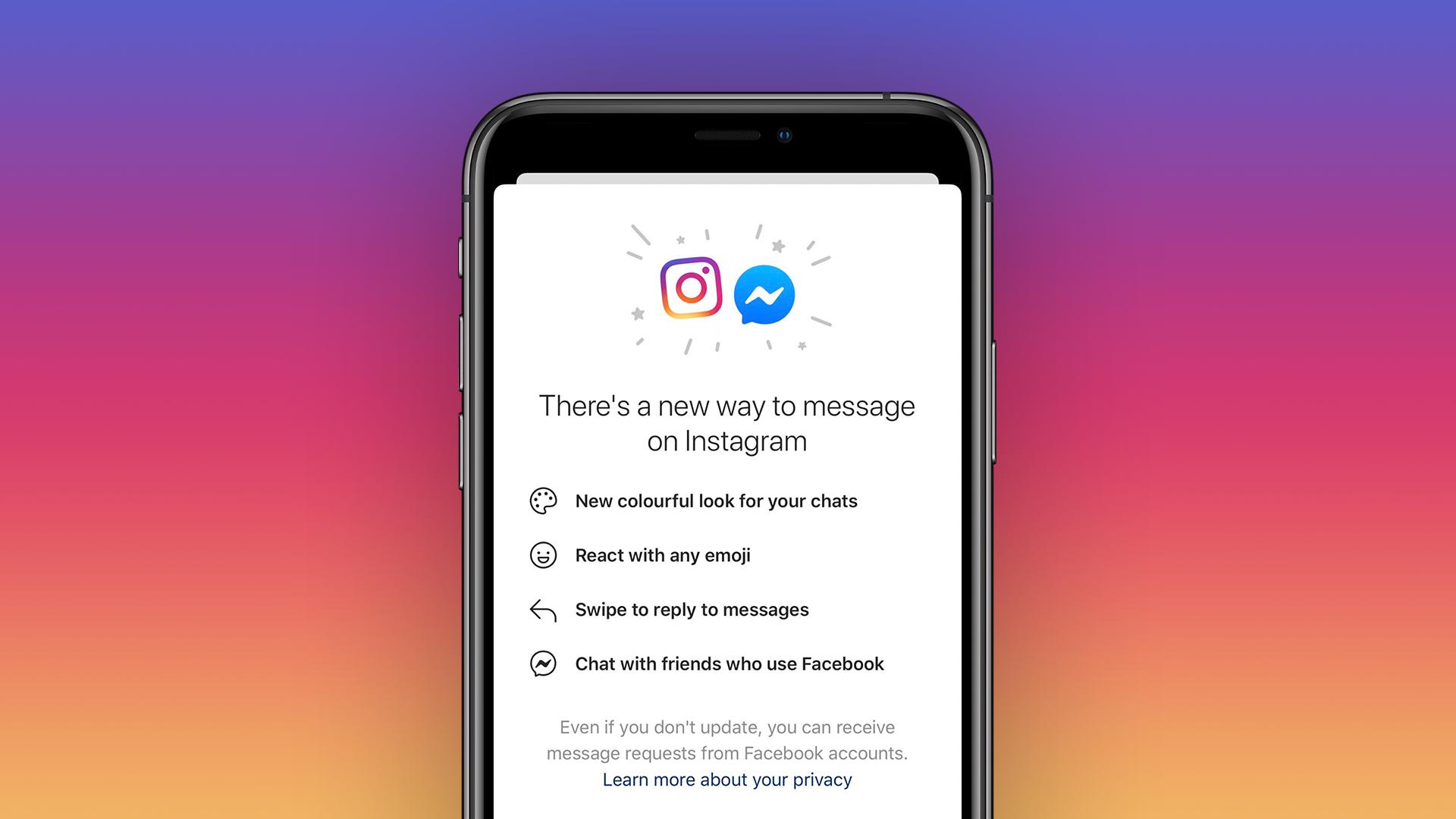 Instagram begins merging 'direct messages' with Facebook Messenger chat