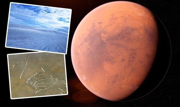 Studies show that, ancient Mars may have been covered with ice, not water