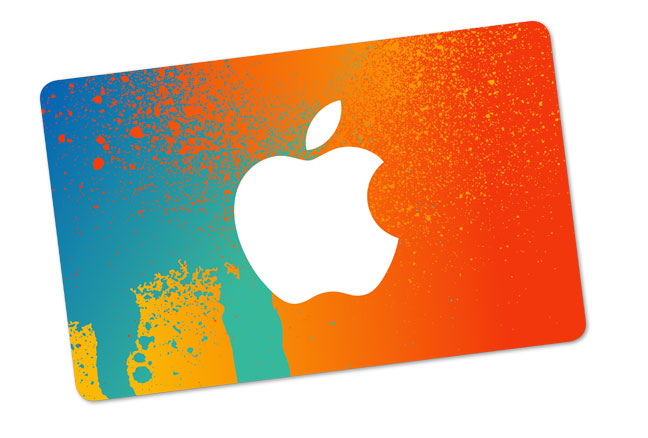 "Apple presently offers a single ""gift card"" for digital and physical buys"