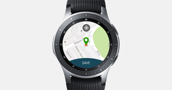 Step by step instructions to use Google Maps on Samsung Galaxy Smartwatch