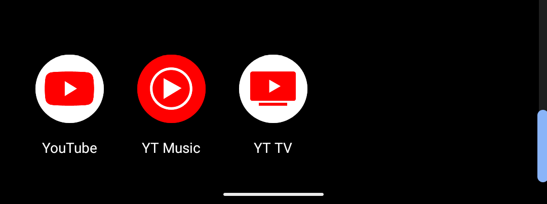 """YouTube TV is presently """"YT TV"""" on Android homescreens as symbol changed on Google TV"""