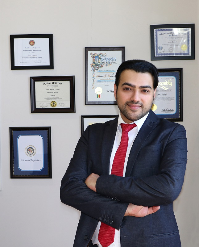 Arian Eghbali Receives Recognition from Donald J. Trump
