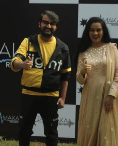 Padmini Kolhapure and Producer Paras Mehta launched music label 'Dhamaka Records'