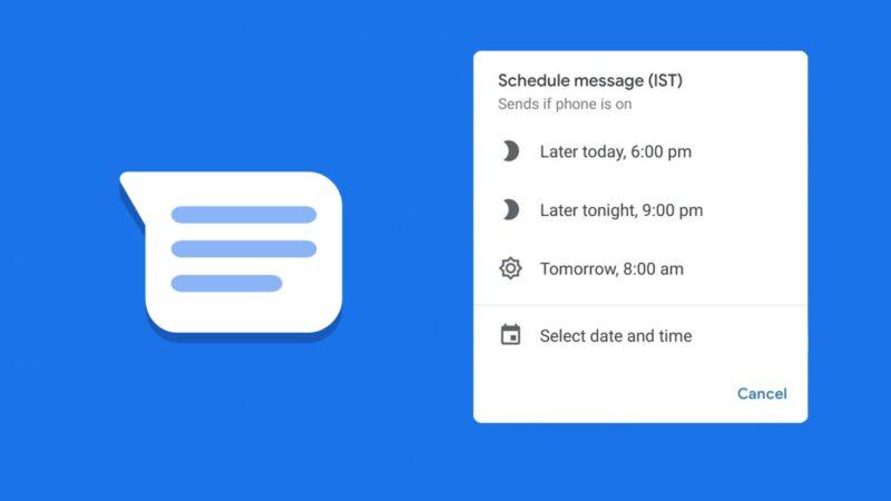 Google Messages: Starts testing scheduled sending options