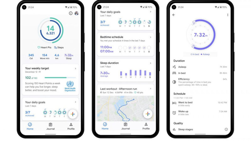 Google Fit adds another health hub and sleep tracking metrics to its mobile applications
