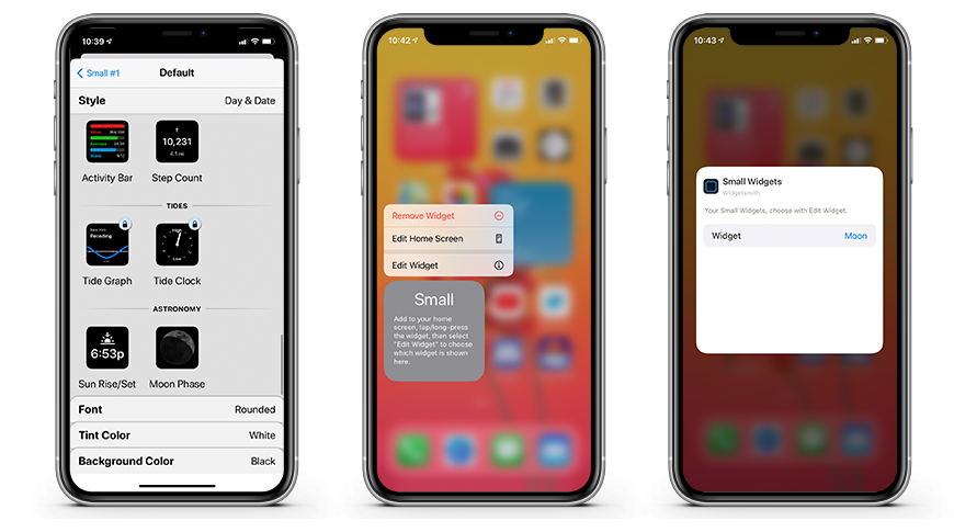 Instructions to utilize Widgetsmith to customize your new iPhone and iOS 14 home screen