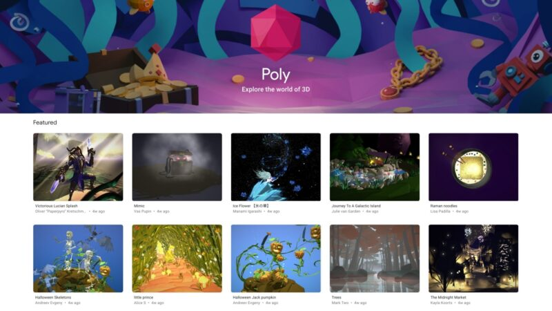 Google is closing down the 'Poly 3D content' platform