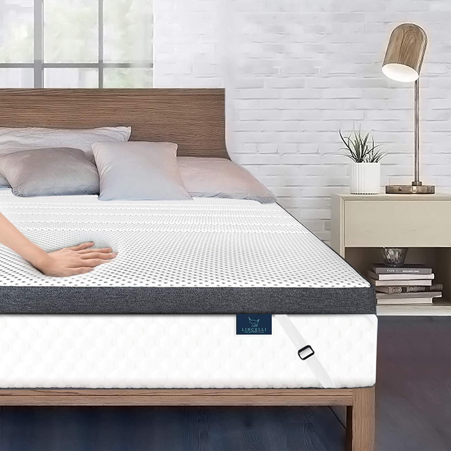 """LINCELLI 4"""" Quilted Double-Layer Memory Foam Mattress Topper Review"""