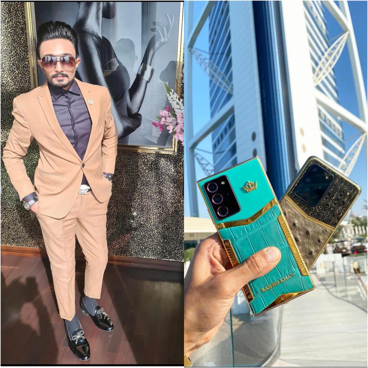 Mohammed Rashid Khan provides the world's most expensive Custom Luxurious phones.