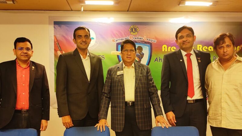 Lions Club of Karnavati launches its maiden Karnavati Premier League to raise fund for philanthropy work