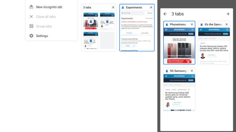 Tab grouping is on Chrome for Android- How to use this new feature