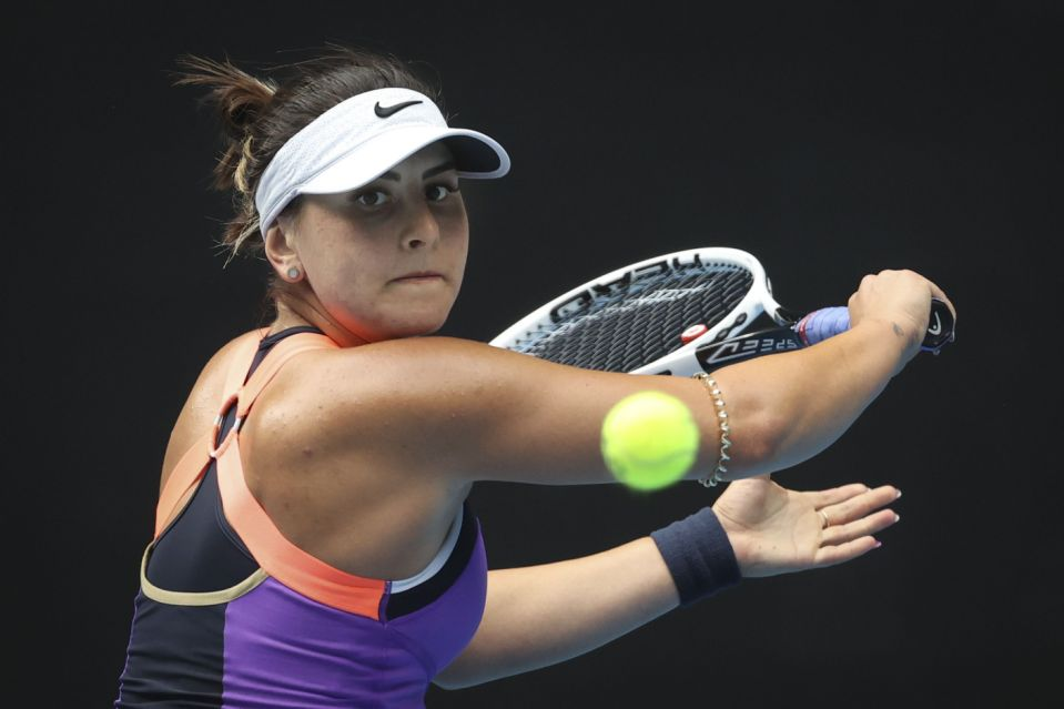 Canadian Bianca Andreescu wins first round game at Australian Open