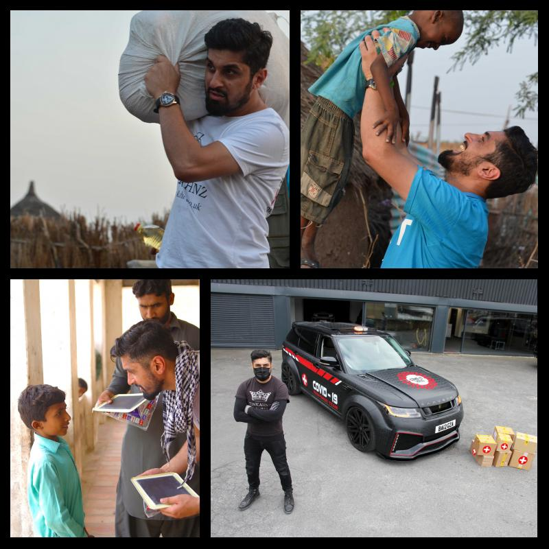 RECEIVING THE BLESSINGS OF THE PEOPLE ON HIS PATH BY HIS CHARITABLE WORK- NAVEED KHAN