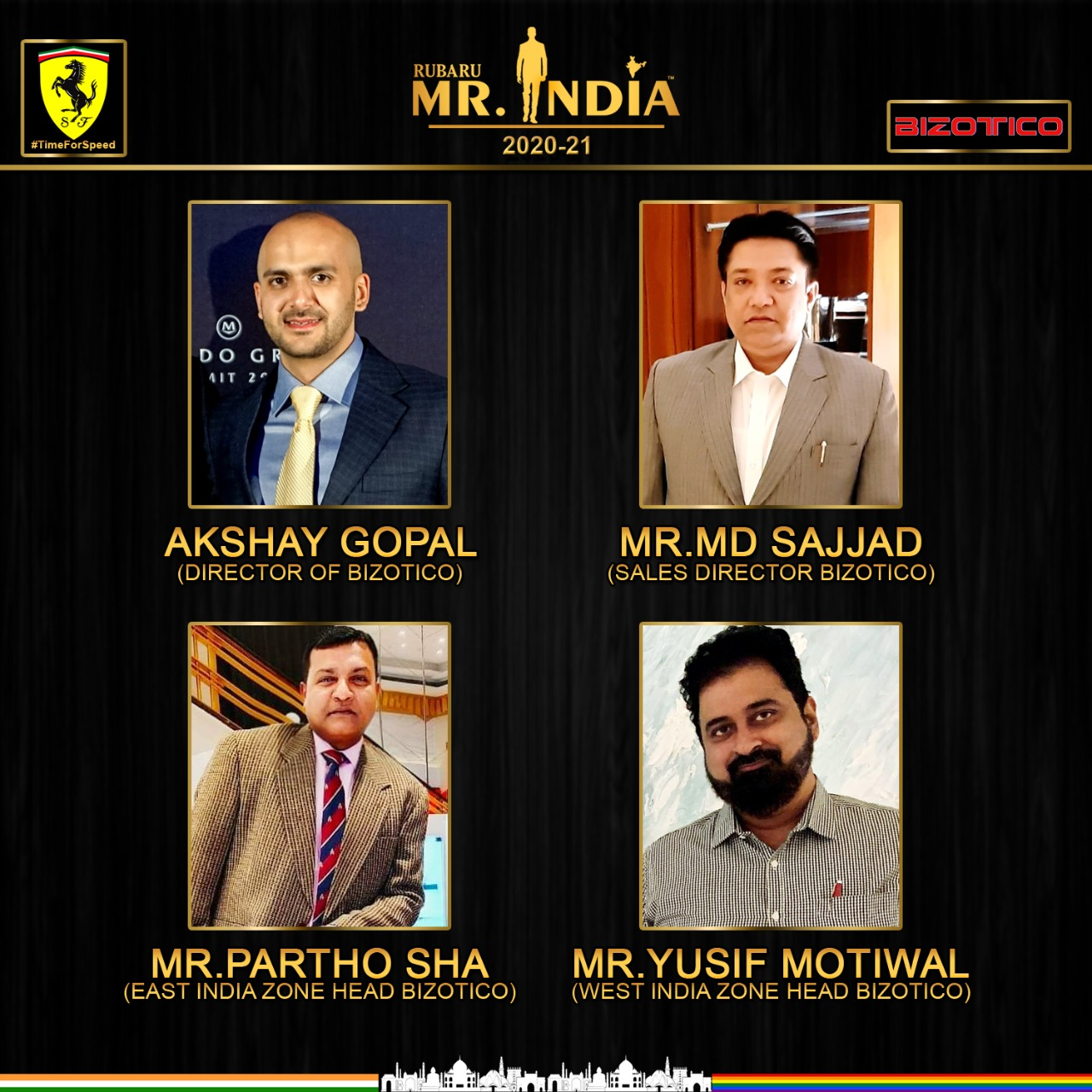 India's biggest male pageant – Rubaru Mr. India associates with Ferrari and Bizotico for its 17th edition