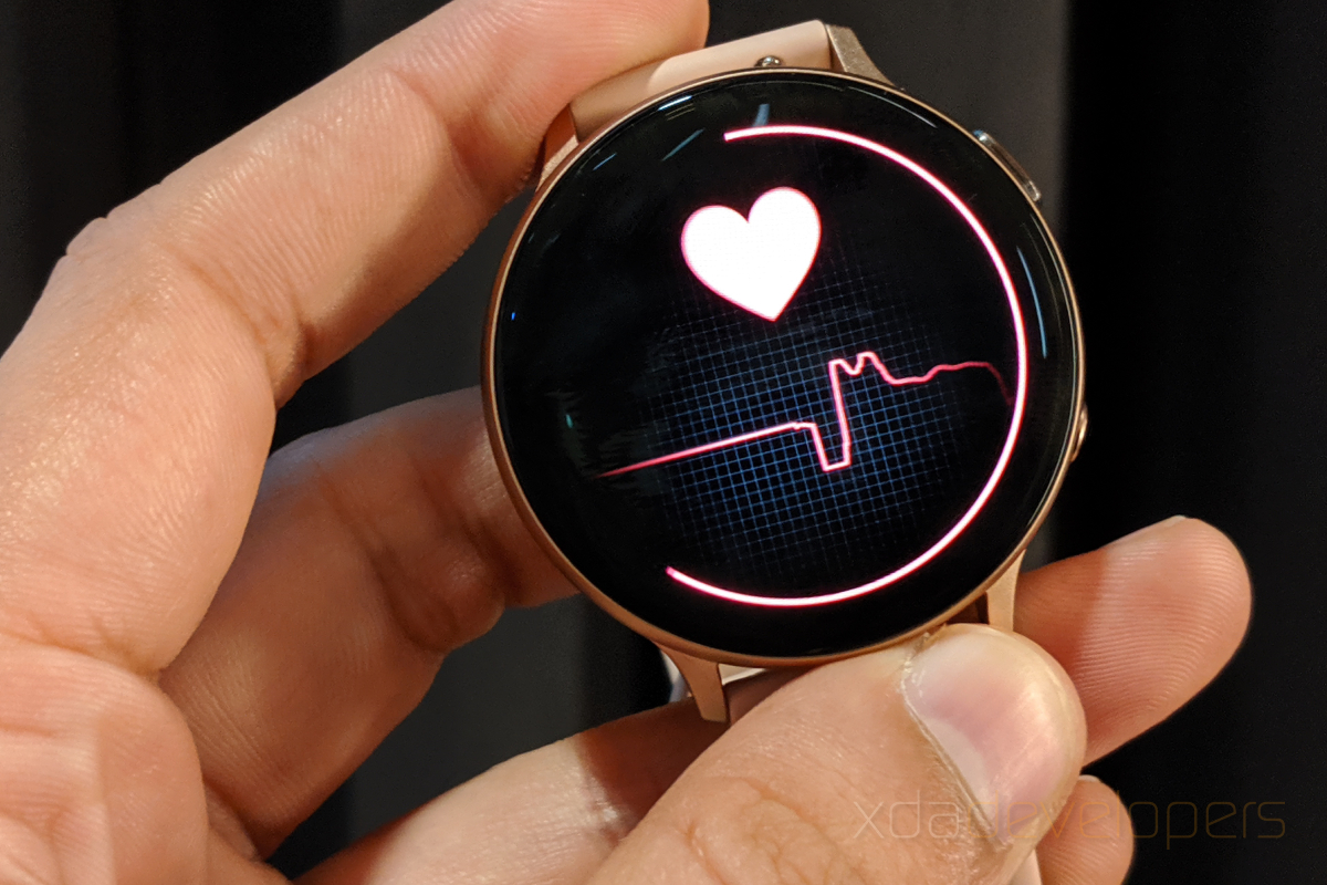 Simple way of acquire the blood pressure on Samsung Galaxy smartwatches