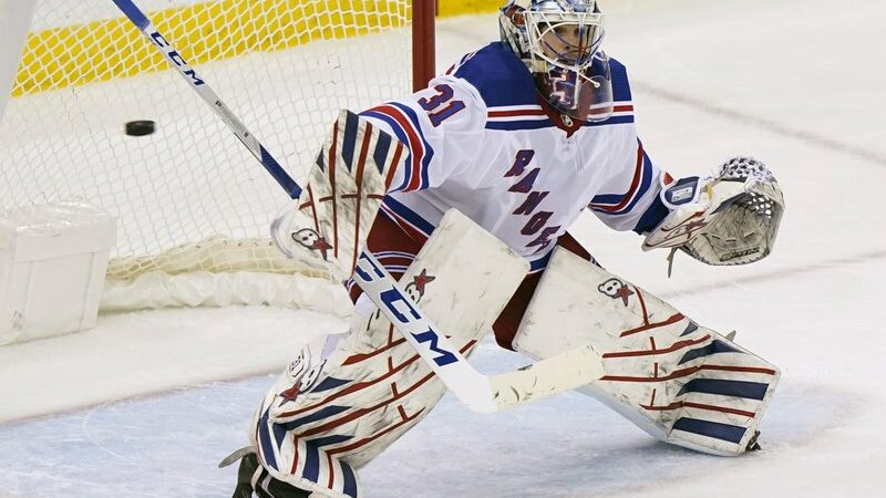 Igor Shesterkin gets the first NHL shutout, Rangers' 3-0 win over Devils