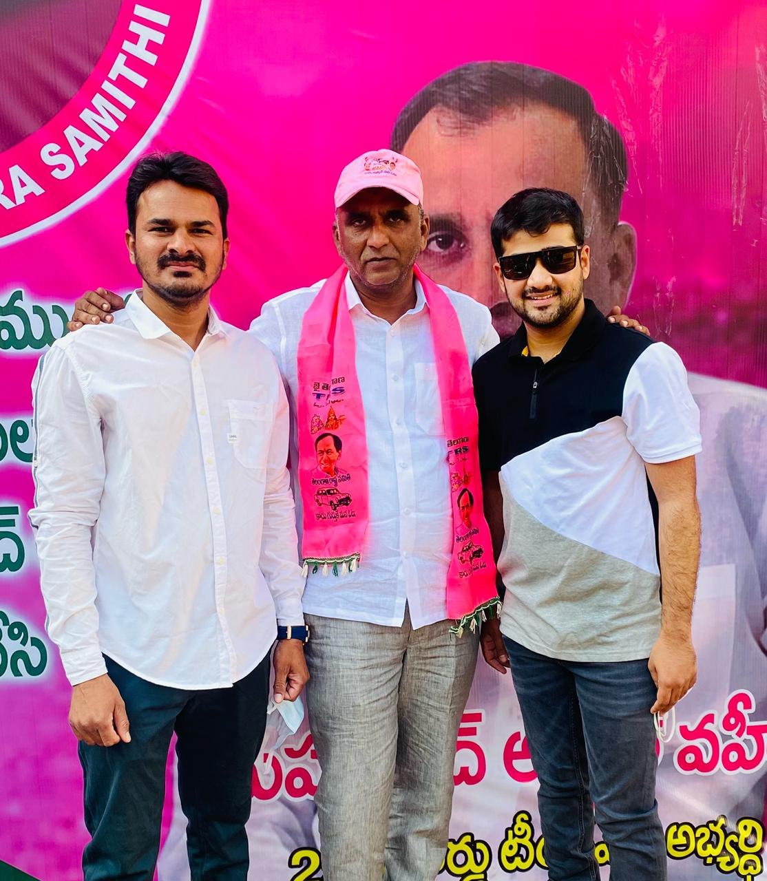 Areeb Shahezan campaigns in support of TRS Candidate Abdul Waheed in (SIDDIPET)