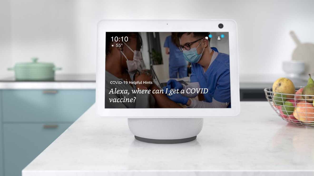 Amazon's Alexa can now help you find a COVID-19 vaccine