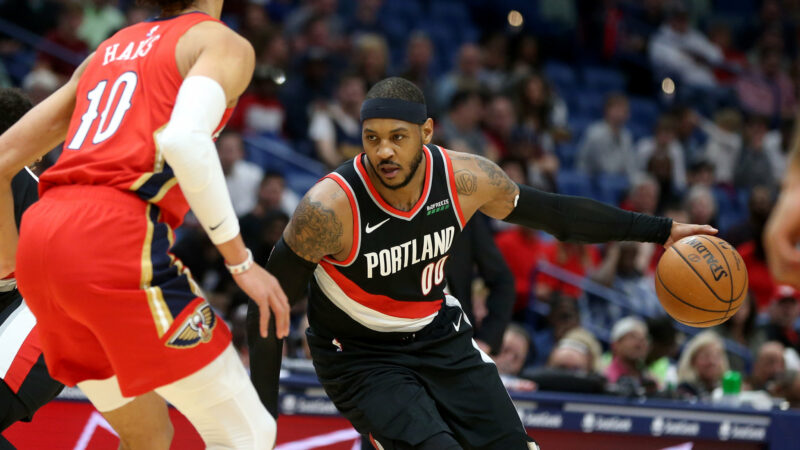 Portland Trail Blazers' Carmelo Anthony moves into 10th place all-time in NBA scoring list
