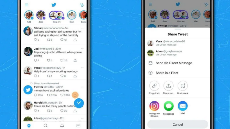 Twitter currently allows iOS clients simply share tweets as Instagram Stories