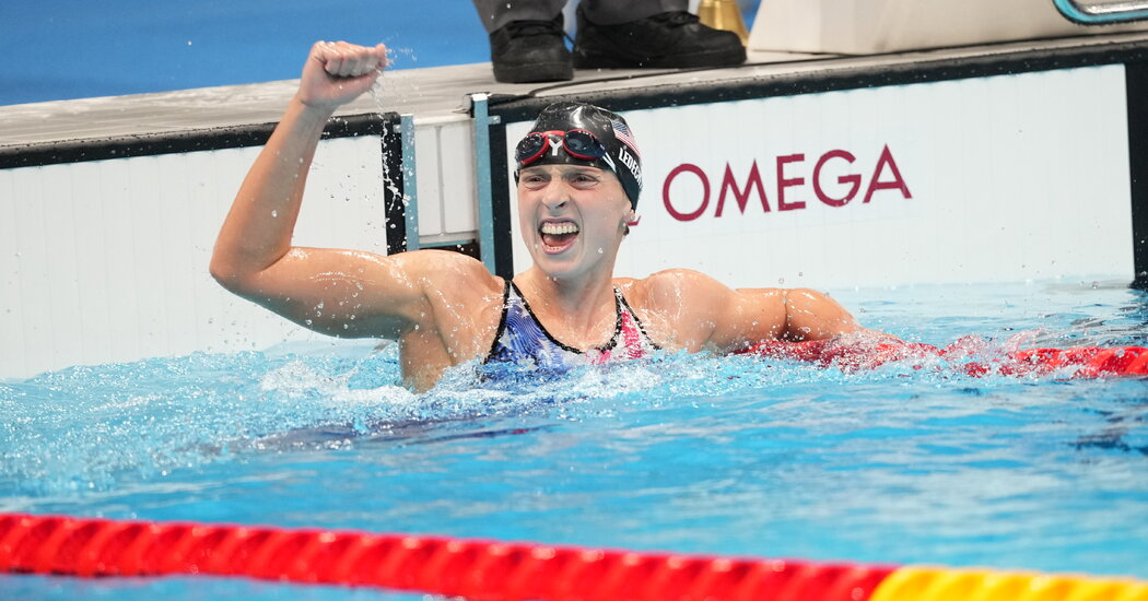 Tokyo Olympics : Katie Ledecky win first-ever gold medal in the women's 1,500-meter freestyle