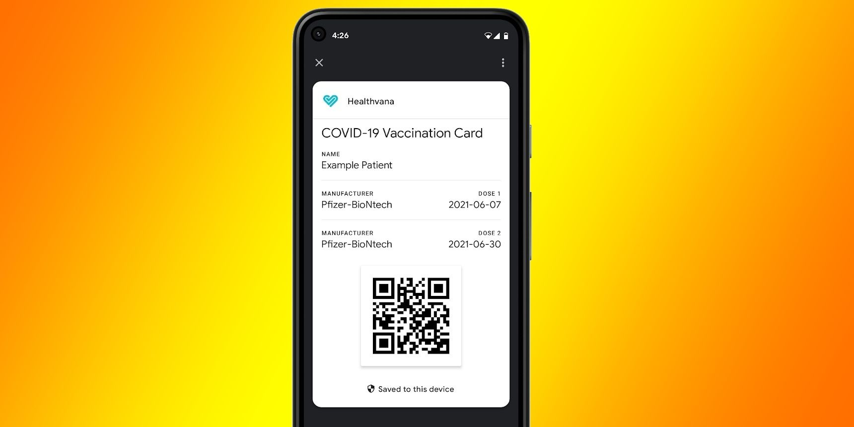Google is making to store digital COVID-19 vaccination cards or test results on Android devices
