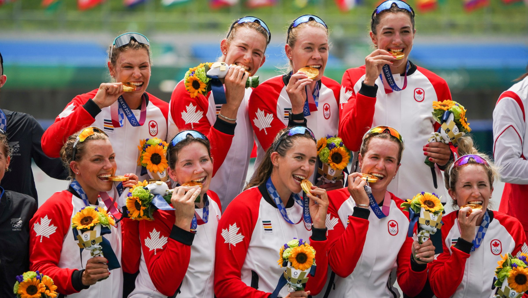 Tokyo Olympics: Canada wins gold medal in women's eight rowing
