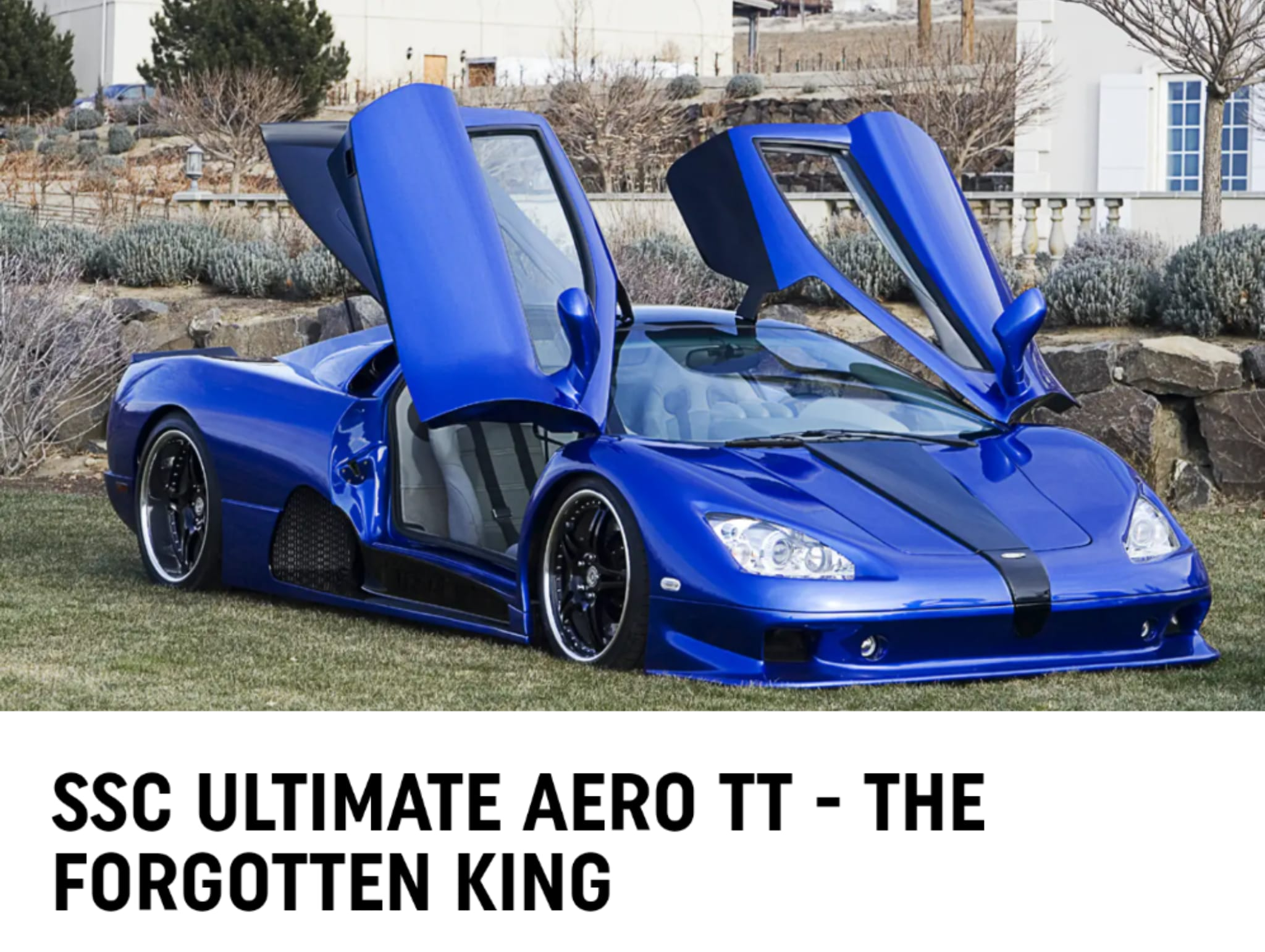 Going up for auction SSC Ultimate Aero VIN number 001 the forgotten King at Mecum auctions Saturday August 14th in Monterey.
