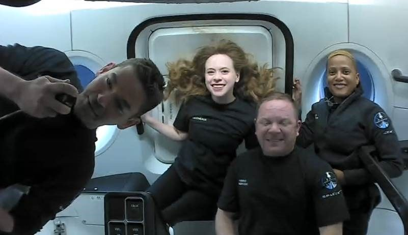 SpaceX Inspiration4 mission crew speaks to St. Jude patients from space (video)