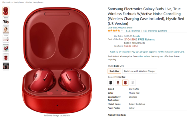 Get Samsung's Galaxy Buds directly on Amazon with the lowest price